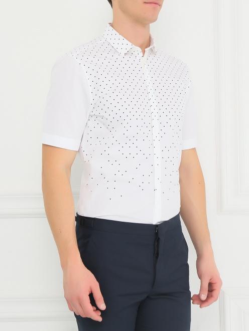 Рубашка из хлопка с короткими рукавами - Модель Верх-Низ