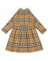Платье хлопковое в клетку Burberry  –  Общий вид