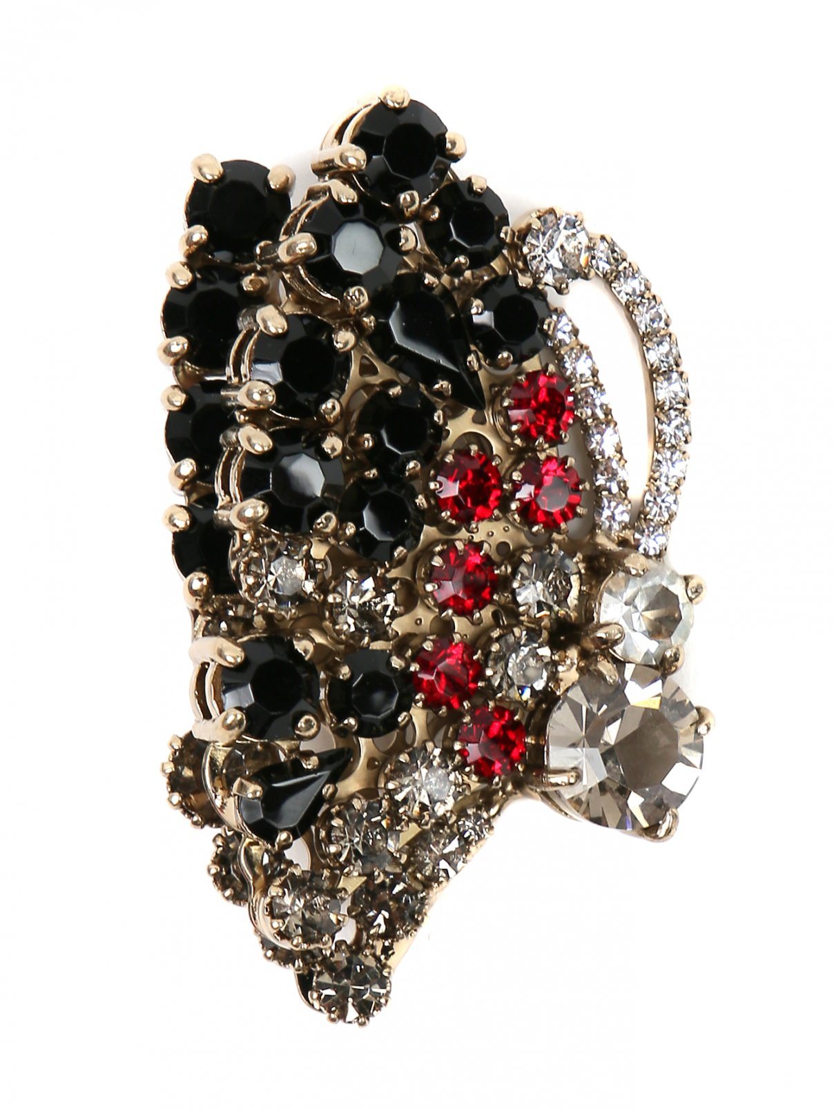 Брошь из металла декорированная кристаллами Ermanno Scervino  –  Общий вид