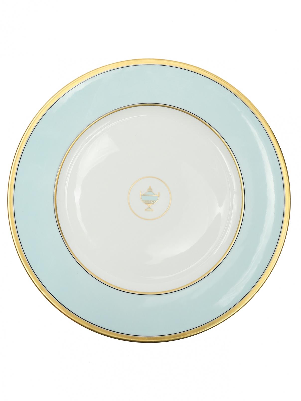 Блюдо круглое с золотой окантовкой Richard Ginori 1735  –  Общий вид