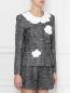 Жакет на кнопках из хлопка, с принтом Moschino Boutique  –  МодельВерхНиз