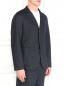 Пиджак из шерсти и льна с узором Barena  –  Модель Верх-Низ