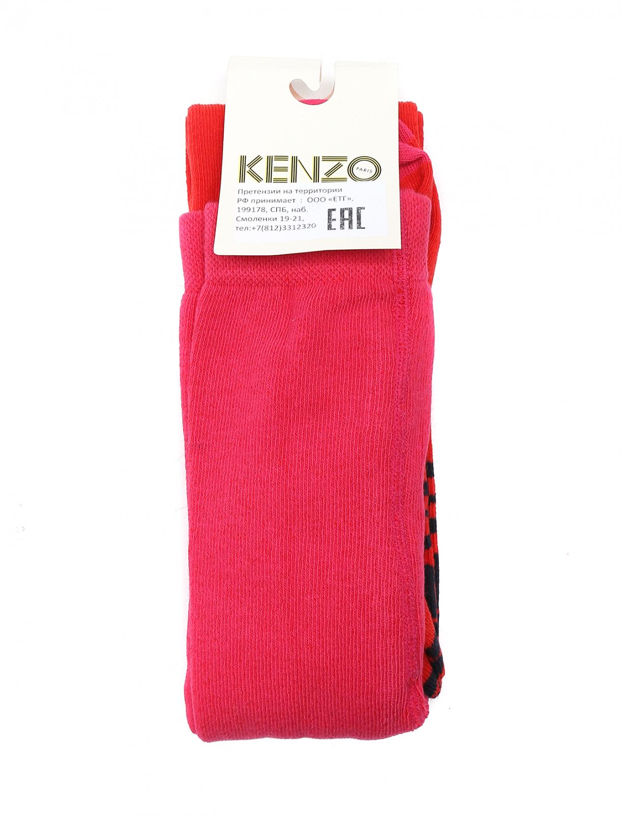 Колготки из хлопка с узором Kenzo  –  Общий вид