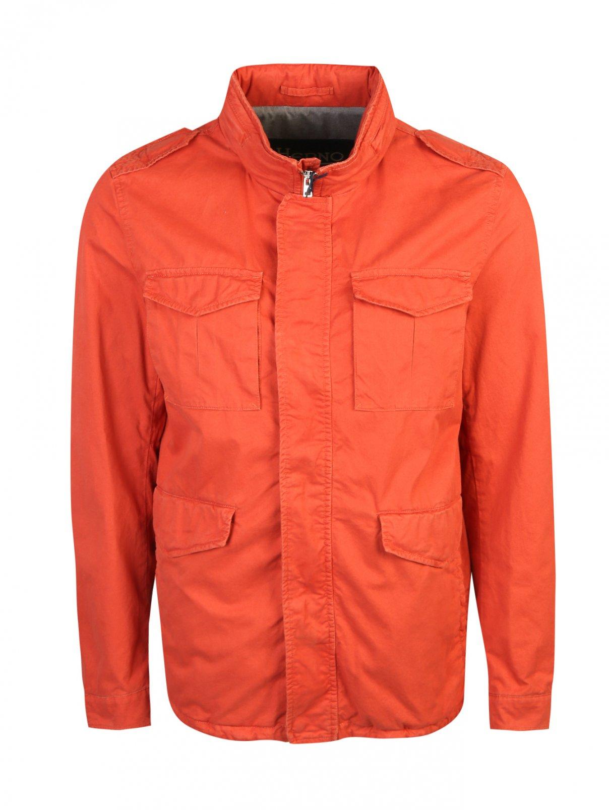 Куртка на молнии с накладными карманами Herno  –  Общий вид