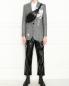 Укороченные брюки с контрастной отстрочкой TIBI  –  МодельОбщийВид