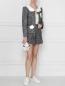 Жакет на кнопках из хлопка, с принтом Moschino Boutique  –  МодельОбщийВид