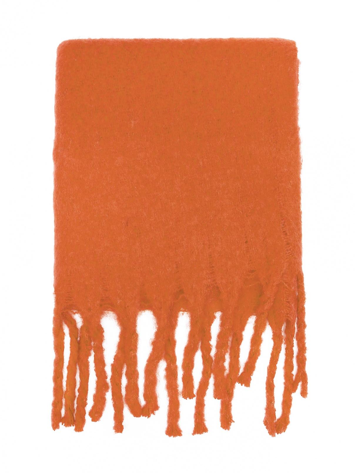 Шарф из смешанной шерсти с бахромой Max&Co  –  Общий вид