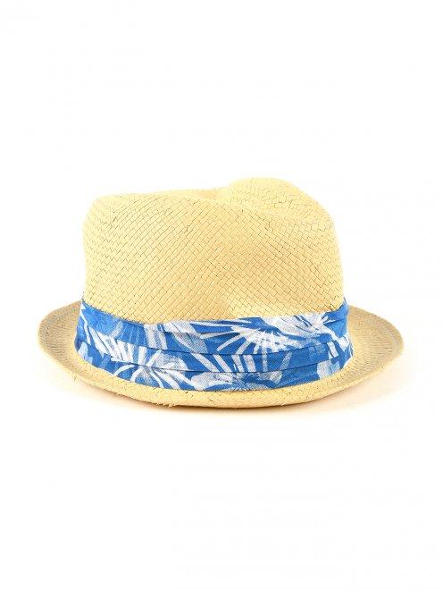 Шляпа с контрастной вставкой - Общий вид
