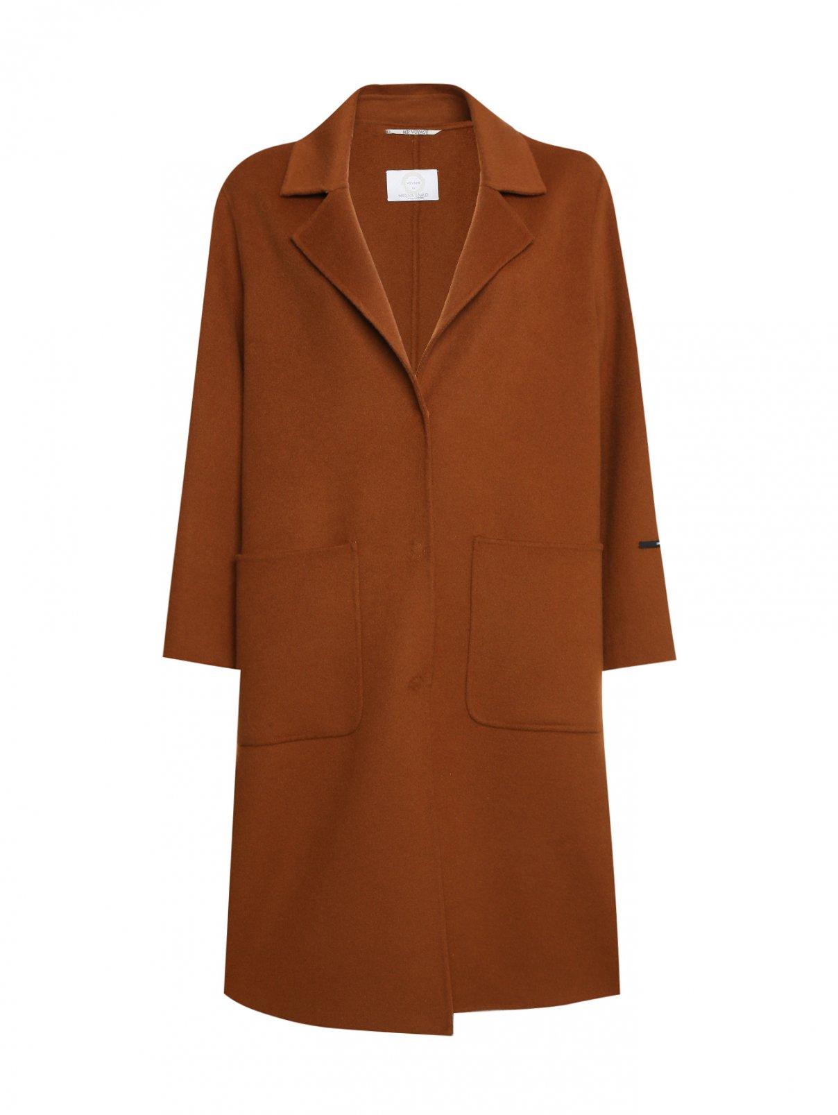 Пальто из шерсти и кашемира с карманами Marina Rinaldi  –  Общий вид
