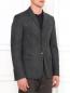 Однобортный пиджак из шерсти Emporio Armani  –  Модель Верх-Низ