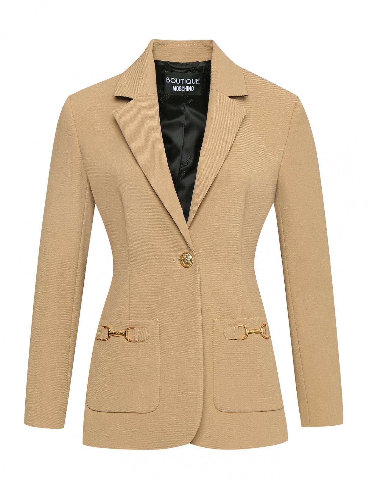 Жакет из смешанной шерсти с золотой фурнитурой Moschino Boutique  –  Общий вид