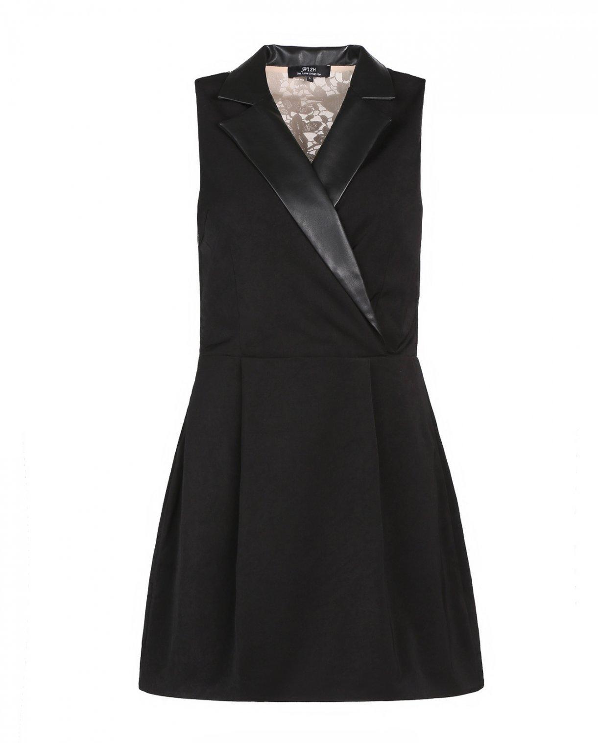 Платье-мини с кружевной вставкой на спине N12H  –  Общий вид