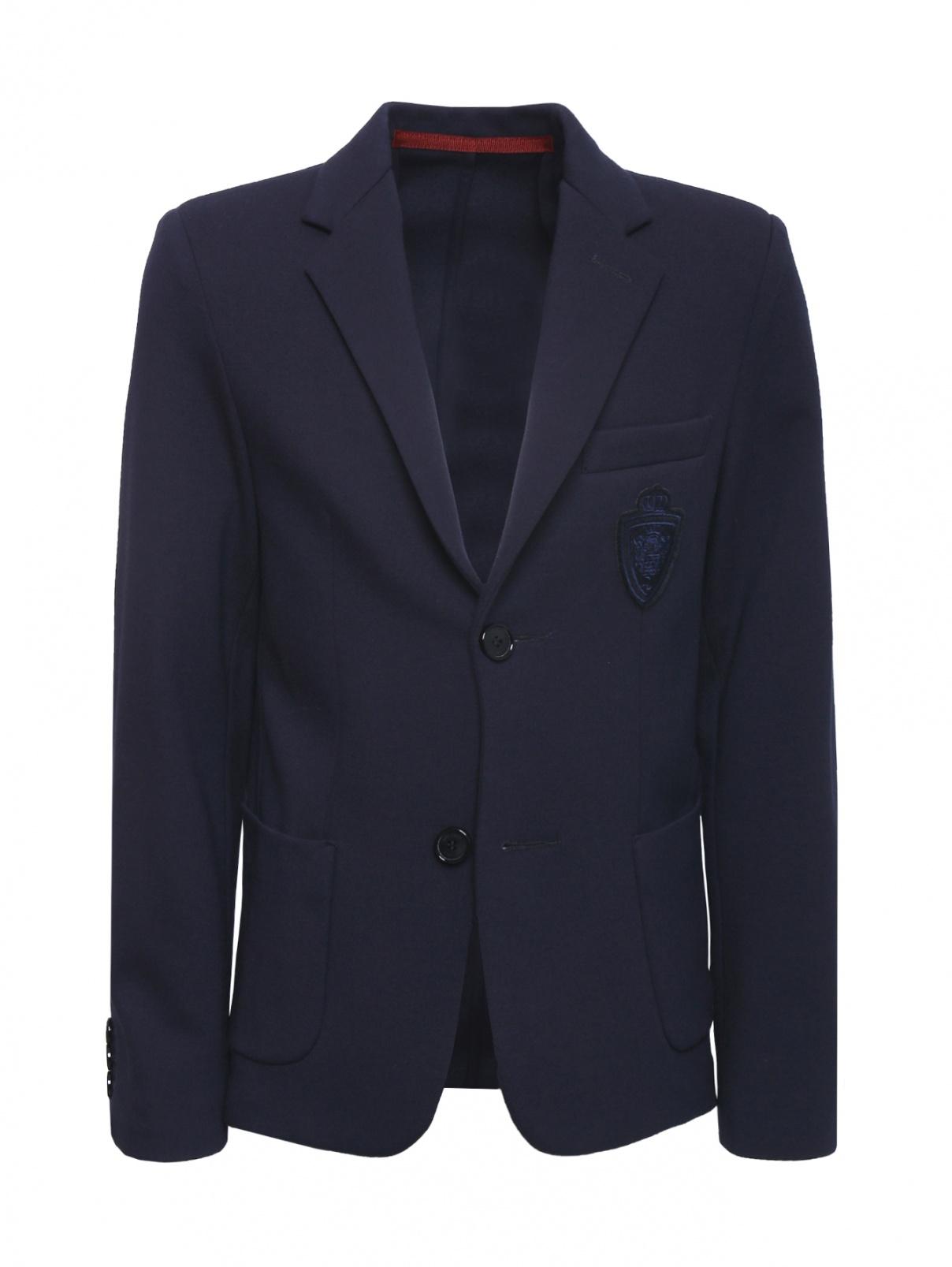 Пиджак трикотажный с шевроном Dal Lago  –  Общий вид