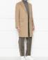 Пальто однобортное из шерсти Brooks Brothers  –  МодельОбщийВид