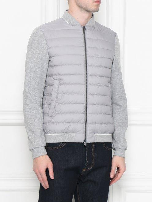 Куртка трикотажная на молнии - МодельВерхНиз