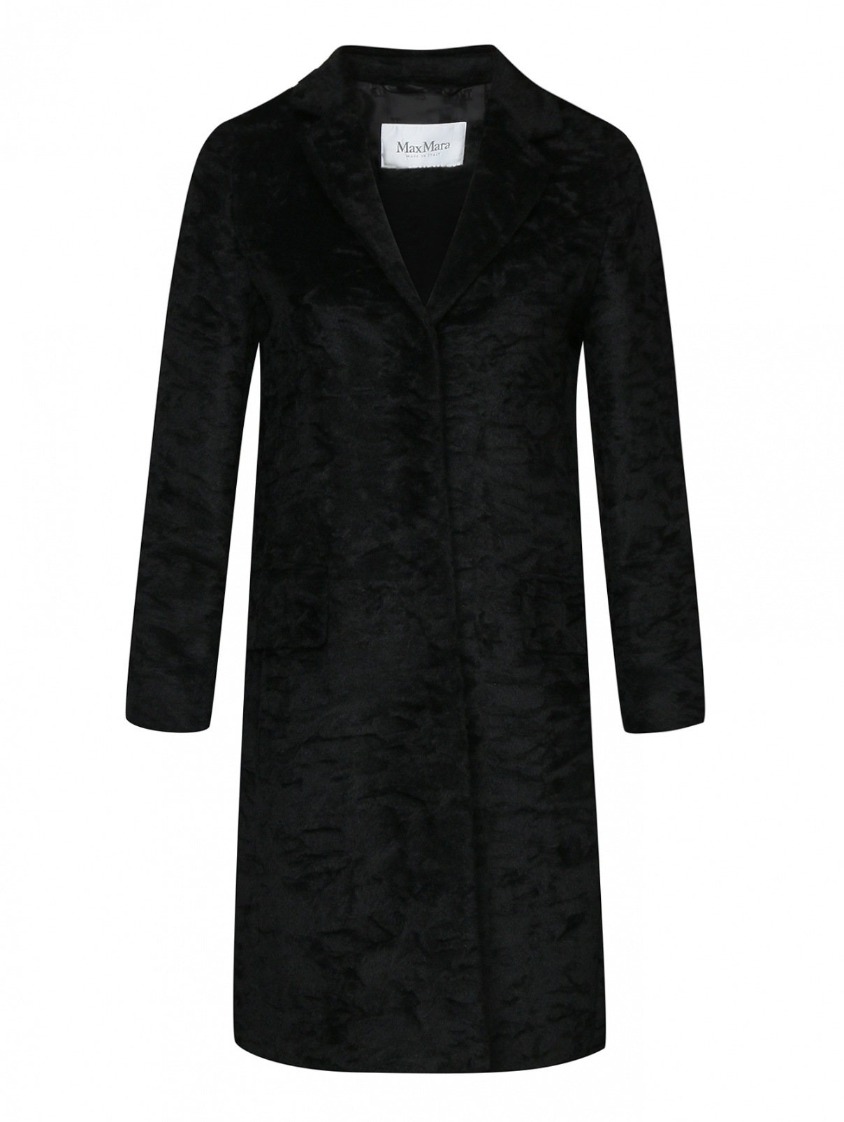 Пальто из фактурной шерсти альпаки Max Mara  –  Общий вид