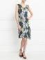 Платье из хлопка и шелка с цветочным узором Paul Smith  –  Модель Общий вид