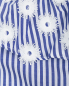 """Платье из хлопка с узором """"полоска"""" и декоративной отделкой Marina Rinaldi  –  Деталь"""