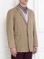 Пиджак однобортный из хлопка Jil Sander  –  Модель Верх-Низ