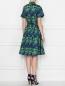 Платье-миди из хлопка с узором Brooks Brothers  –  МодельВерхНиз1