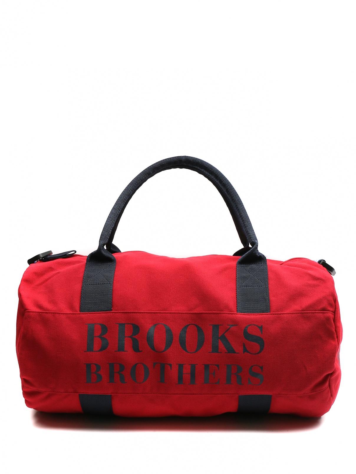 Спортивная сумка из хлопка с принтом Brooks Brothers  –  Общий вид