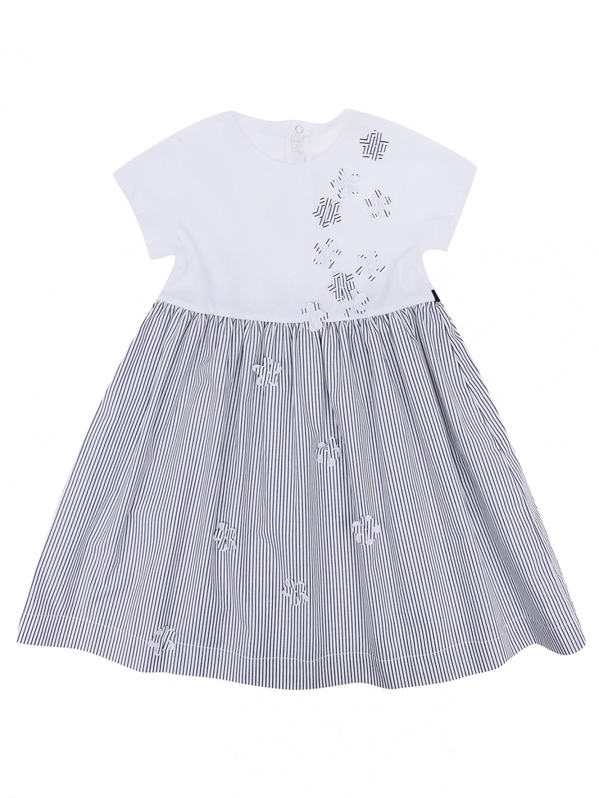 Платье из хлопка в полоску Il Gufo  –  Общий вид