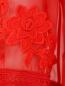 Платье-мини из шелка с вышивкой Alberta Ferretti  –  Деталь