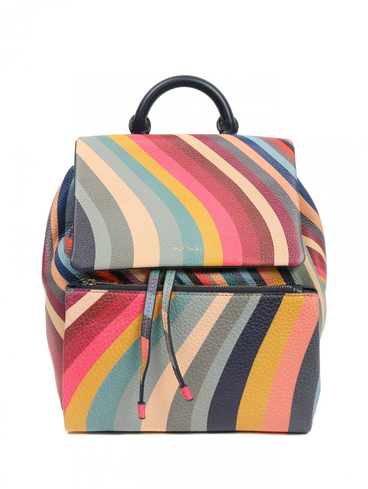 Рюкзак из кожи в полоску Paul Smith  –  Общий вид