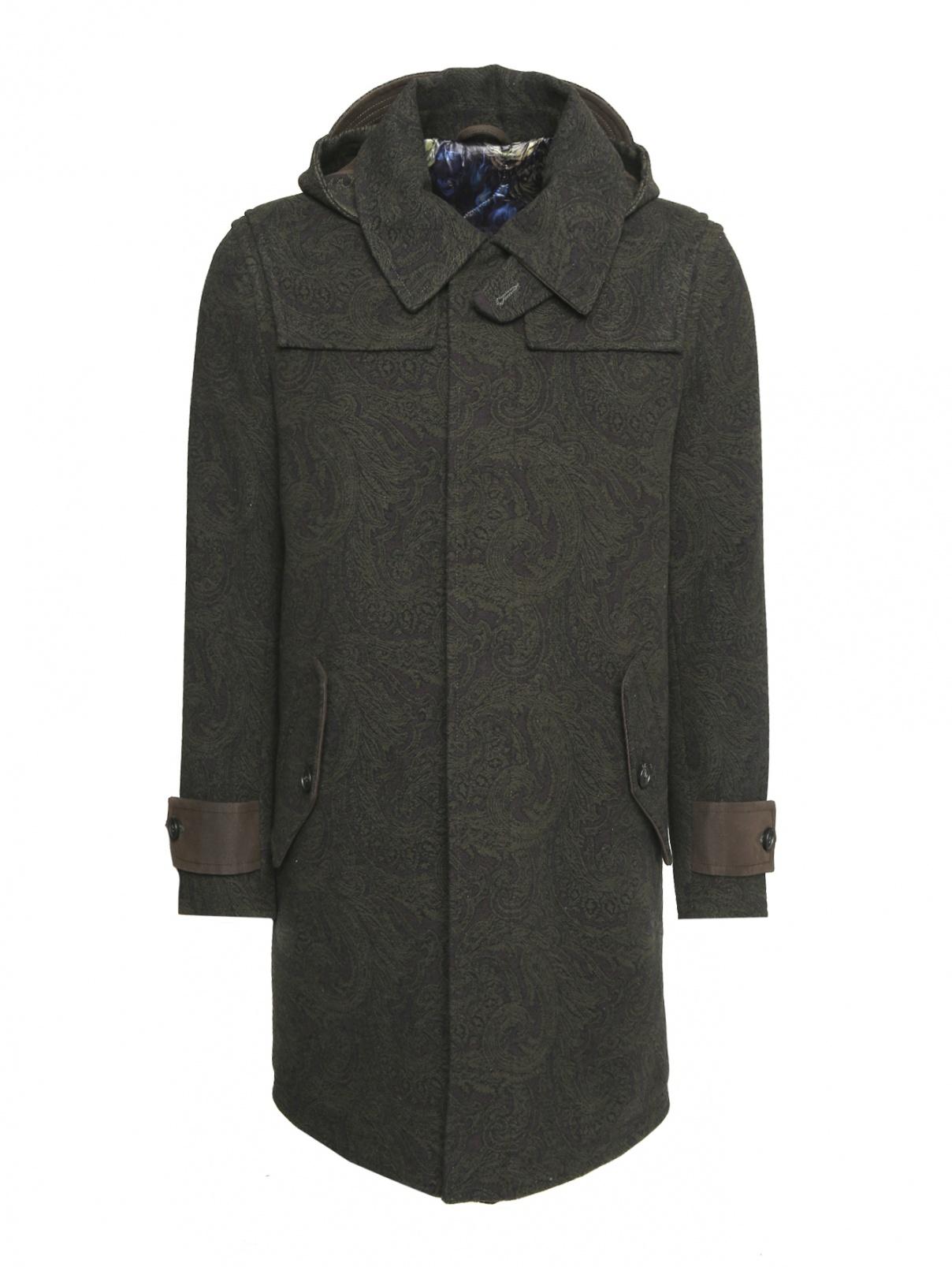 Пальто из шерсти на молнии с капюшоном Etro  –  Общий вид