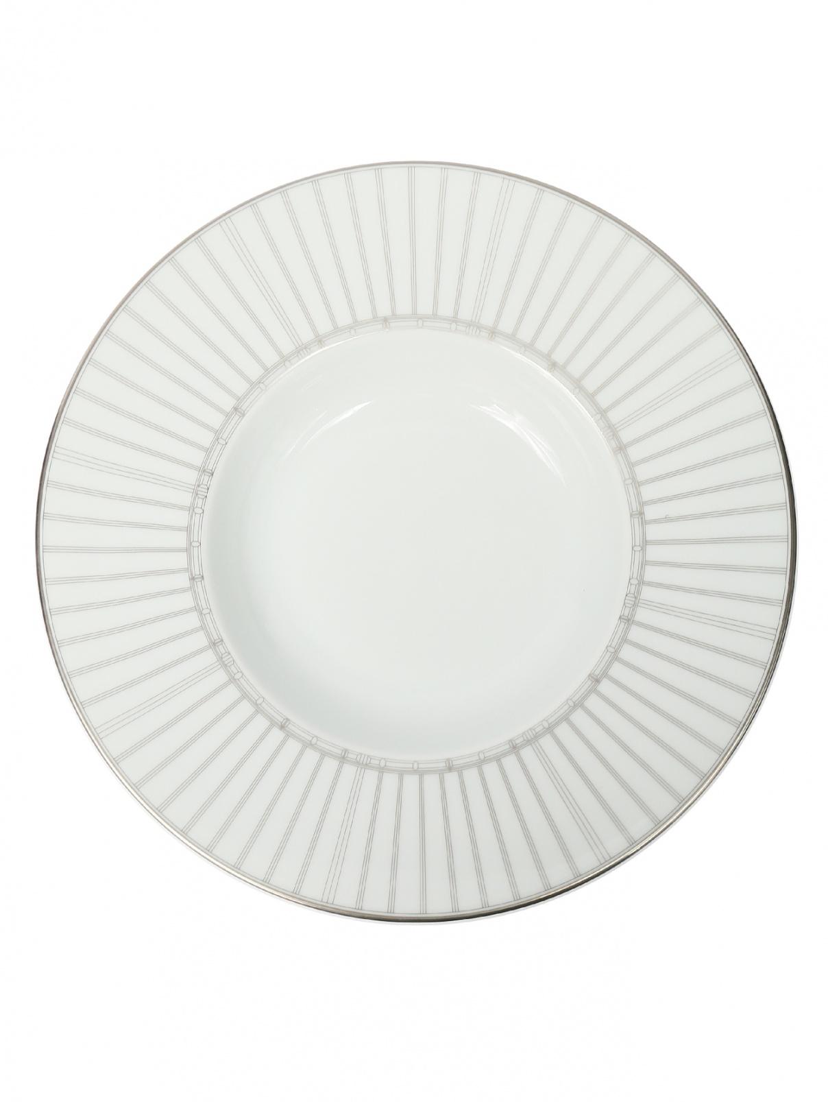 Тарелка суповая из фарфора с орнаментом Haviland  –  Общий вид