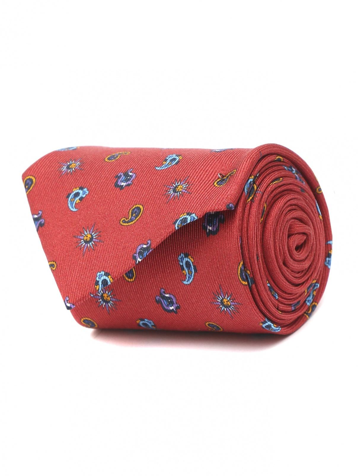 Галстук из шелка с узором Etro  –  Общий вид