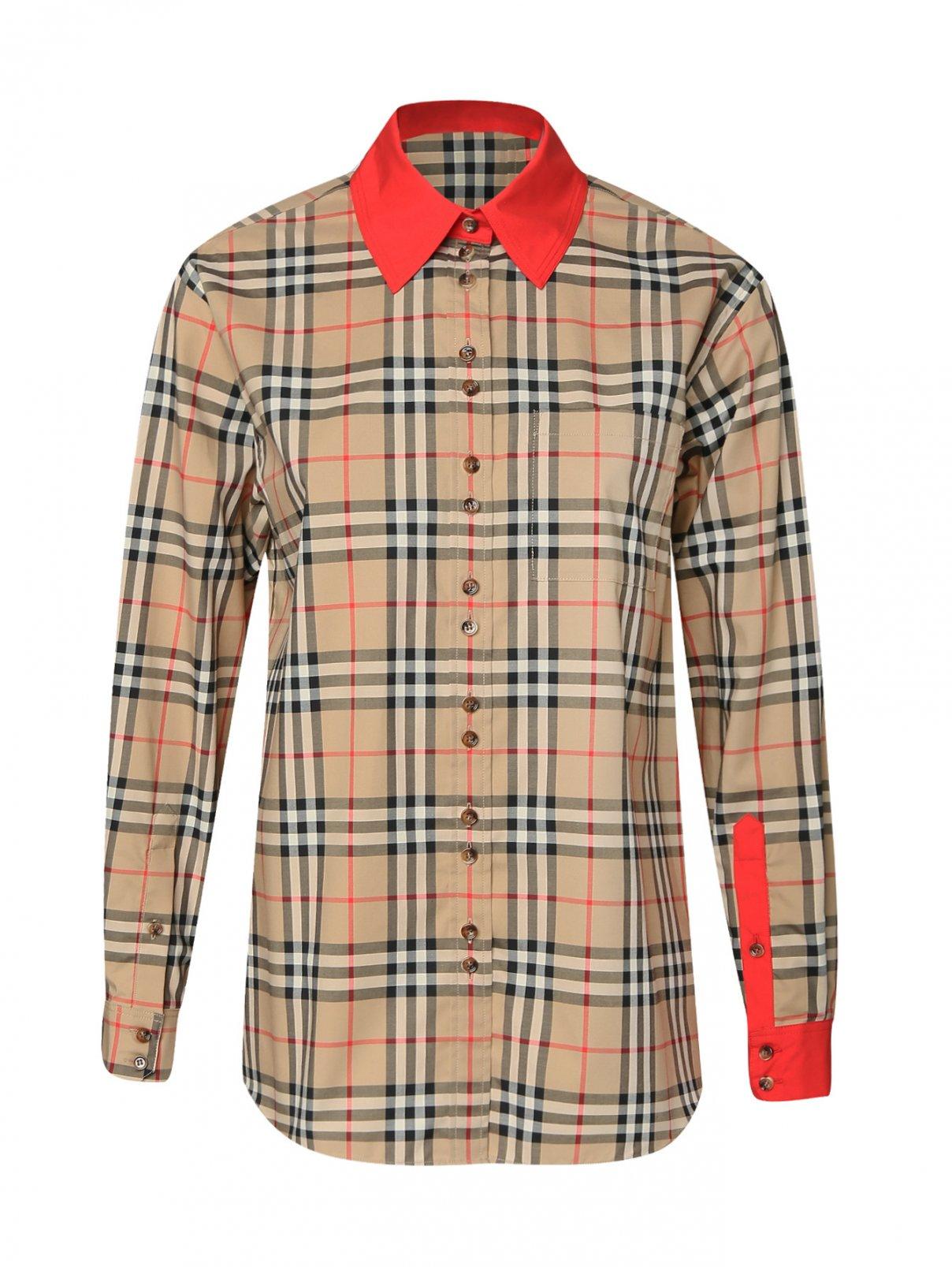 Блуза из хлопка в клетку Burberry  –  Общий вид