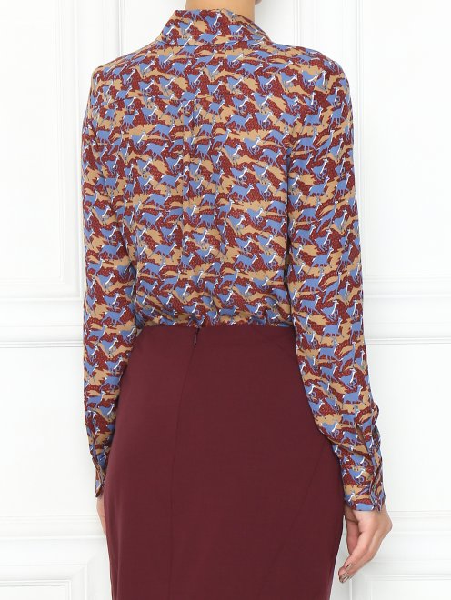 Блуза из шелка с узором - МодельВерхНиз1
