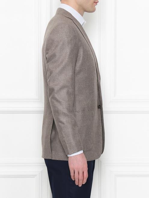 Пиджак из шелка и шерсти - МодельВерхНиз2