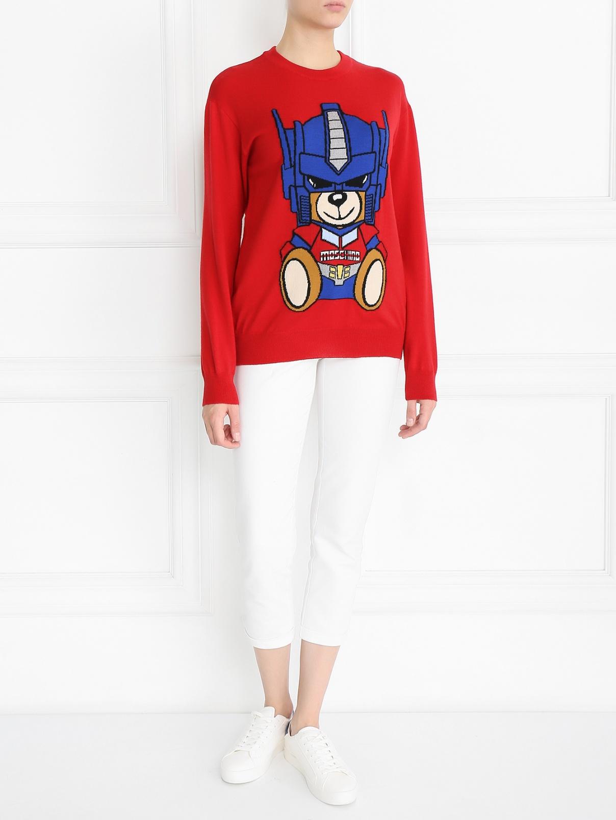 Джемпер из шерсти с узором Moschino Couture  –  Модель Общий вид