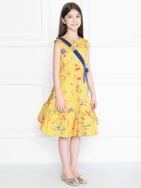 Платье из смешанного хлопка  - МодельВерхНиз