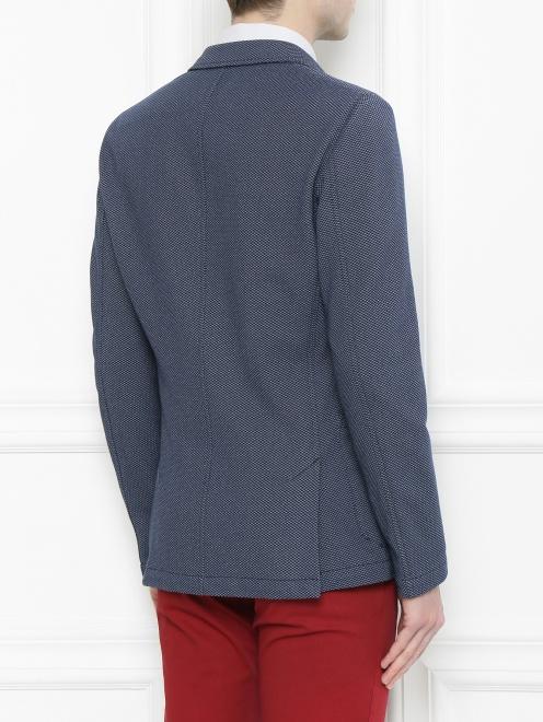 Пиджак из хлопка с узором - МодельВерхНиз1