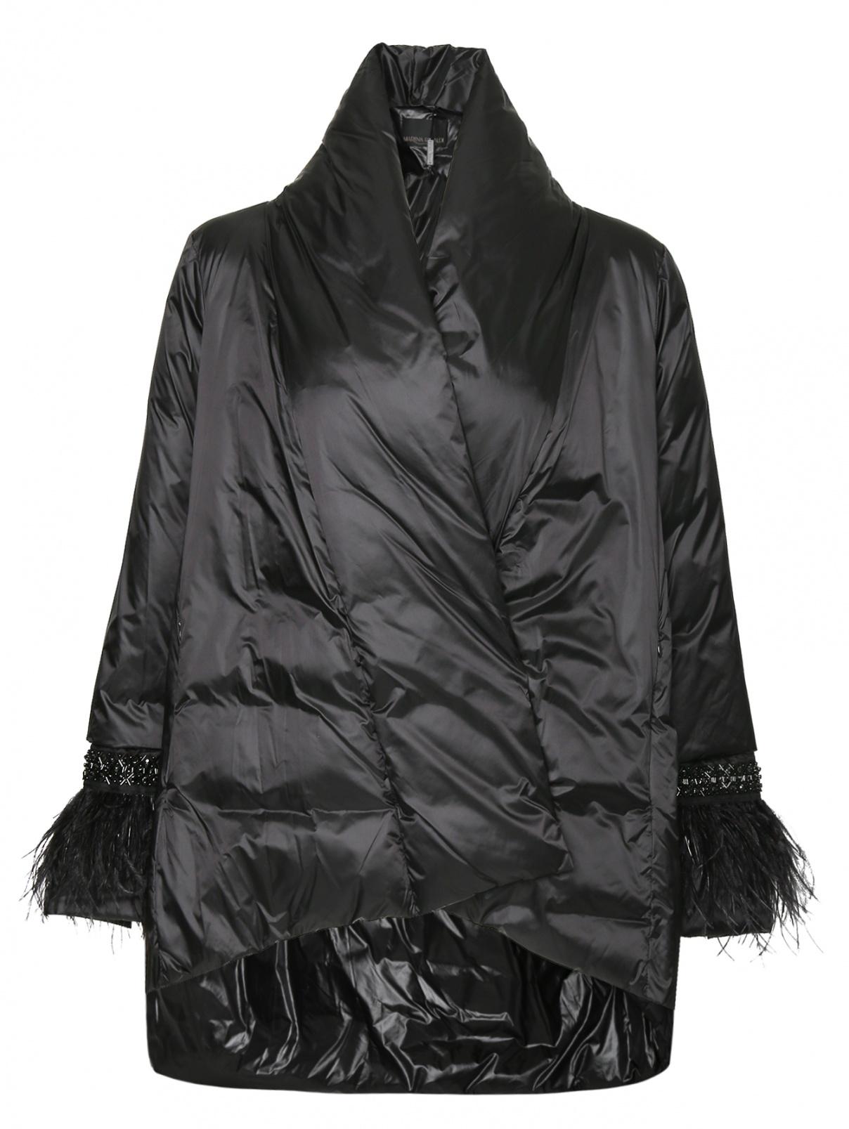 Куртка асимметричного кроя с декоративной отделкой на рукавах Marina Rinaldi  –  Общий вид
