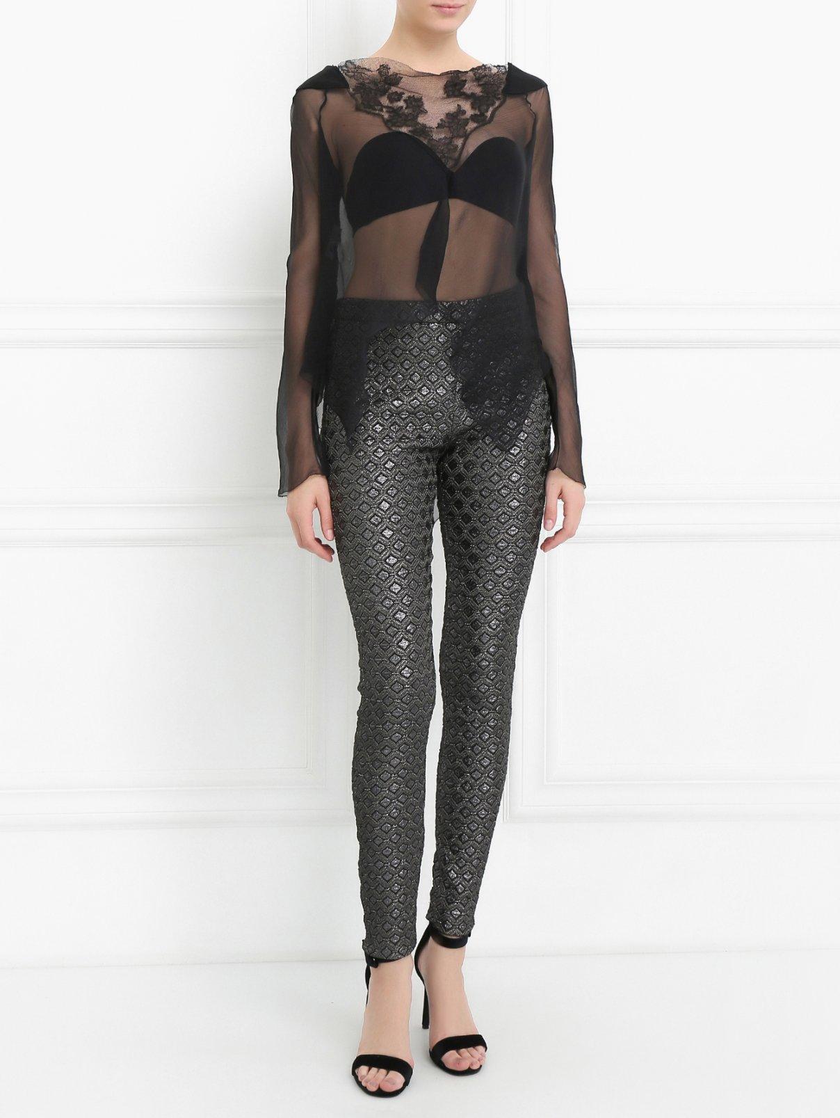 Узкие брюки с узором Giamba  –  Модель Общий вид