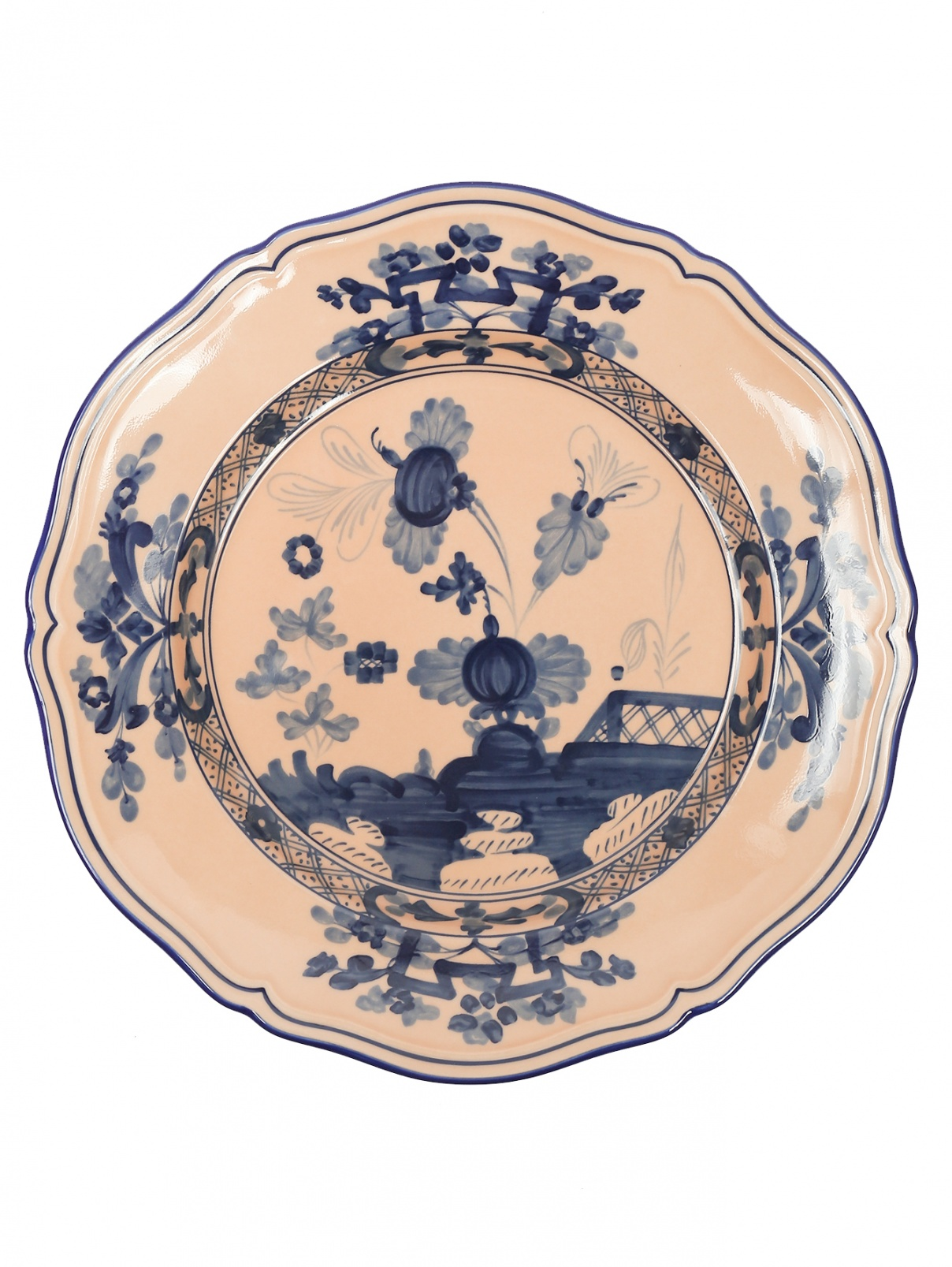 Тарелка обеденная из фарфора с узором Ginori 1735  –  Общий вид