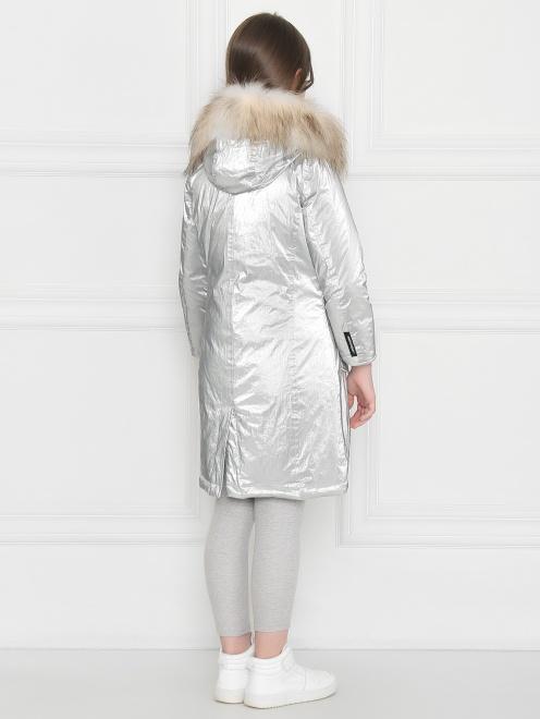 Куртка удлиненная с капюшоном с меховой отделкой - МодельВерхНиз1