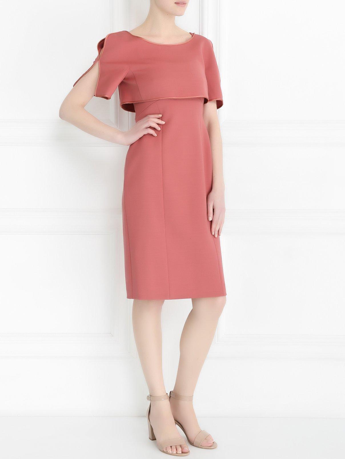 Платье из шерсти с накидкой Alberta Ferretti  –  Модель Общий вид