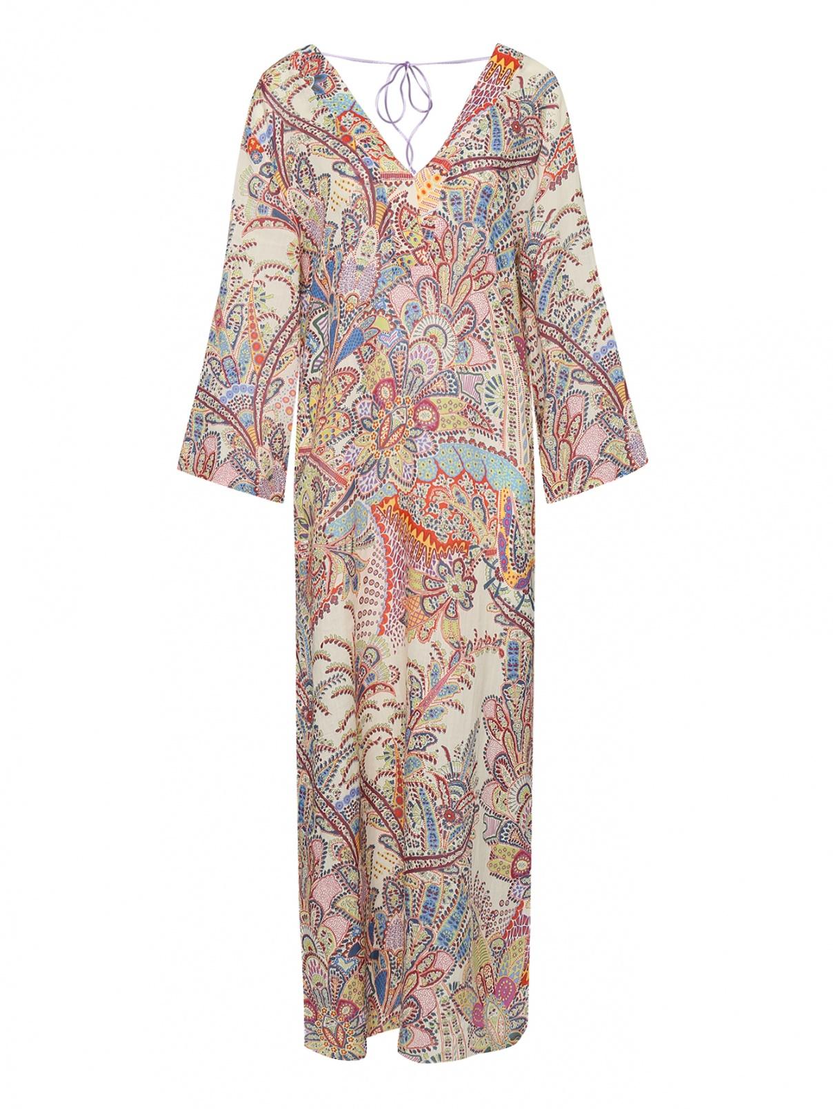 Платье из рамии с принтом Etro  –  Общий вид