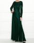 Платье-макси из бархата Alberta Ferretti  –  МодельОбщийВид