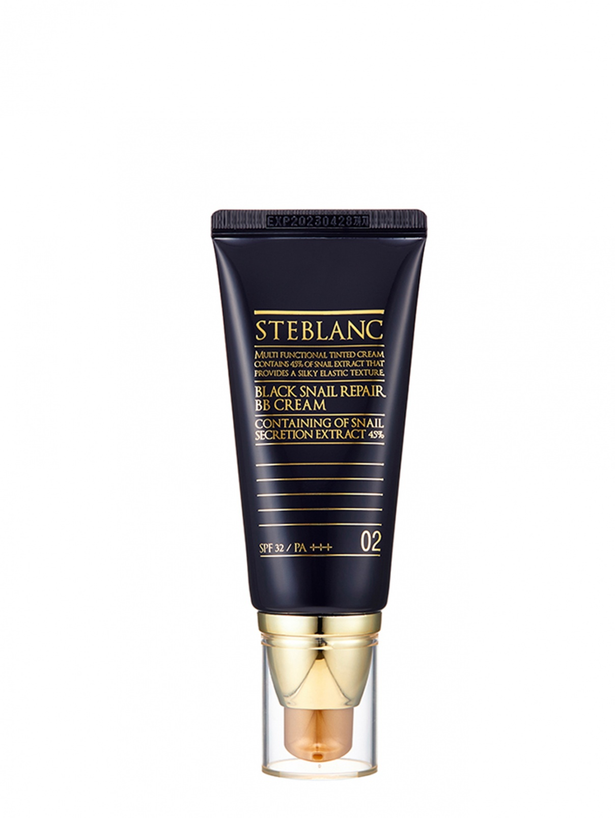 Black Snail Repair BB Cream / ВВ крем с муцином Чёрной улитки тон 02 (беж) 50 мл STEBLANK  –  Общий вид