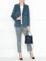 Укороченные брюки с узором Weekend Max Mara  –  МодельОбщийВид