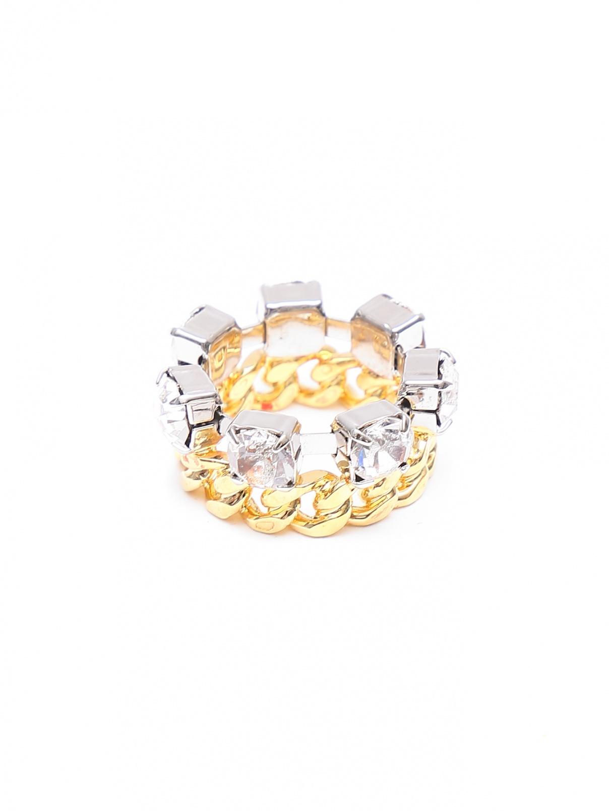 Кольцо из латуни, декорированное кристаллами MM6  –  Общий вид
