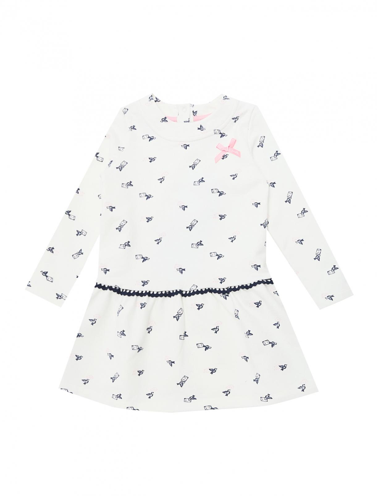 Платье трикотажное с декором Sanetta  –  Общий вид
