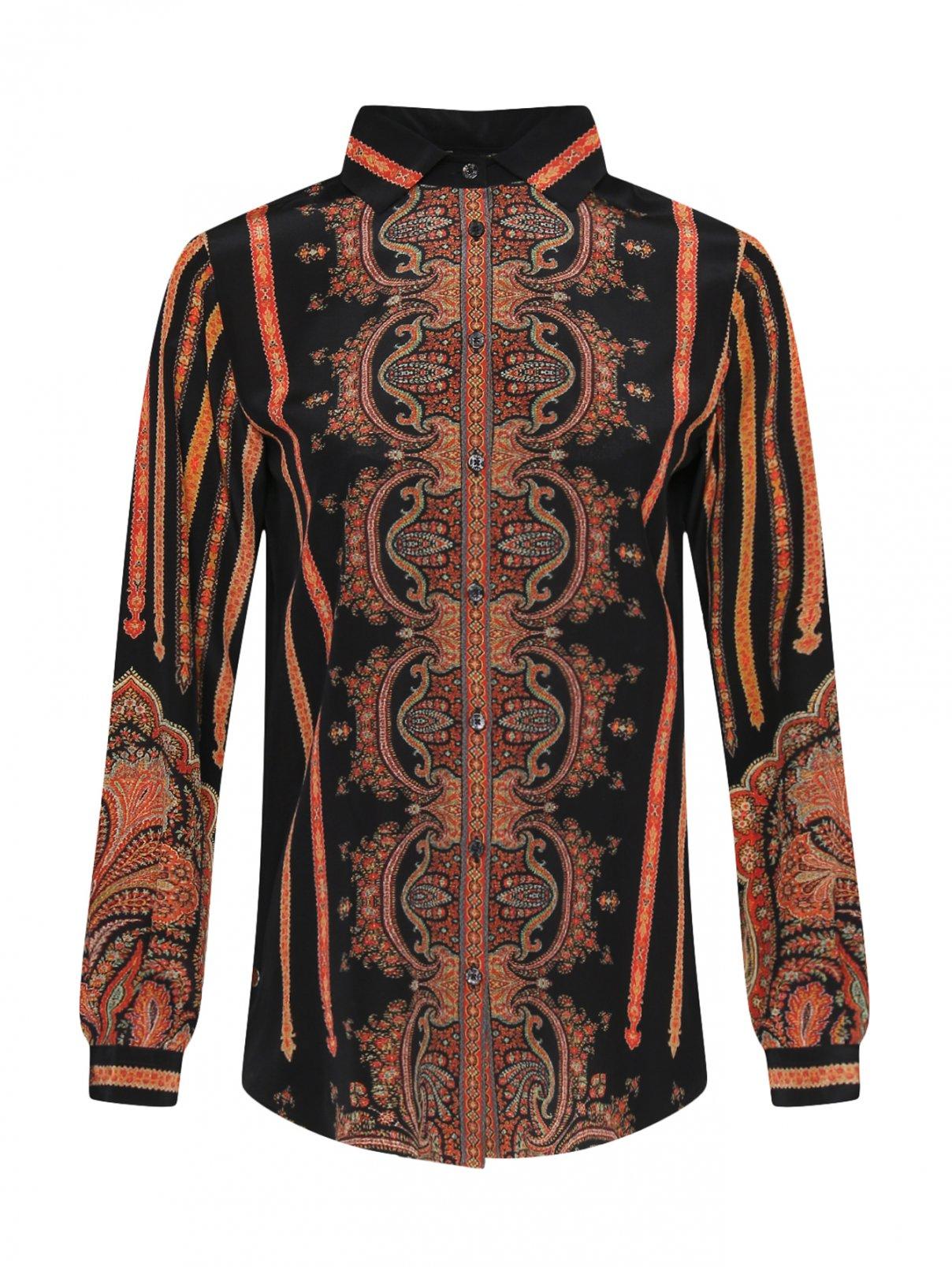 Шелковая рубашка с узором Etro  –  Общий вид
