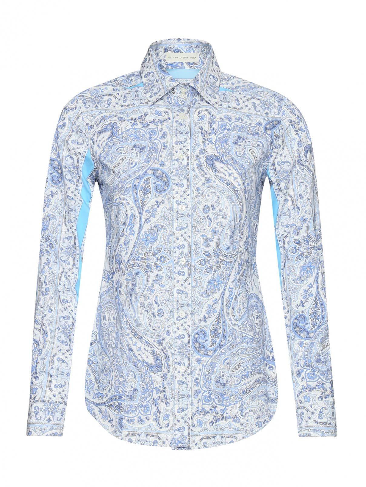 Рубашка хлопковая с узором пейсли Etro  –  Общий вид